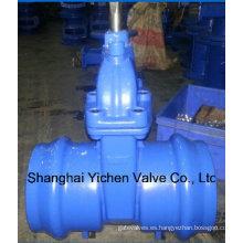 Válvulas de compuerta de extremo de enchufe con aislamiento elástico para PVC, tubos de PE Z61