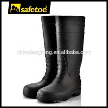 Botas de goma baratos, botas de lluvia de seguridad, botas de lluvia para los hombres W-6038