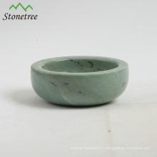 Gros bol à épices en marbre porte-sel et poivre