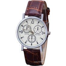 Wholesale Fashion Three-Eye Men Quartz Watch Blue Glass Belt Men Wrist Watch