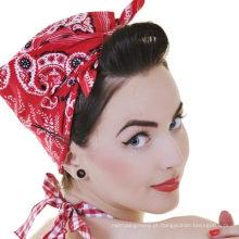 Padrão elegante clássico feito sob encomenda de Paisley imprimiu o Bandanna do Headwrap