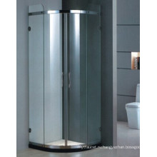 Верхнее сбывание Закаленная стеклянная алюминиевая рамка ванной комнаты ливня (H001D)