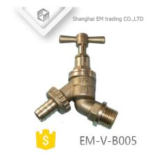 EM-V-B005 Bsp Gewinde Sanitärschlauch Hahn Wasserhähne Messing Bibcock