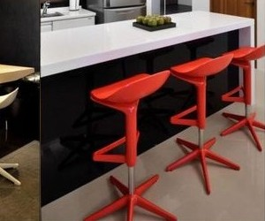 Adjustable Plastic Spoon Bar Stool