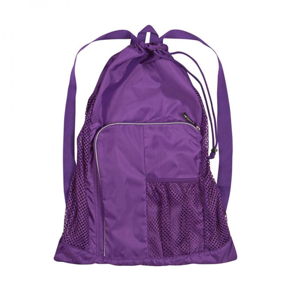 Purple Mesh Equipment Bag