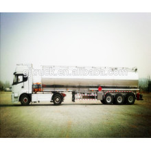 3 Axle stainless tank trailer with isolation layer with heating system with 42000L capacity for chemical liquid transportation