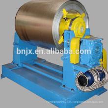 10 T desmontaje hidráulico de bobina de acero máquina con carga de coches para la venta, desbobinador hidráulico con bobina de coche