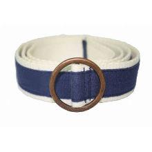 3.8cm width grosgrain ribbon covered webbing Jeans belts -KL0031