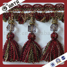 Curtain lace trim tassel fringe,used for drapes,cushions,curtain and accessories