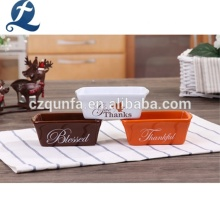 Microondas Custom Pequeño gres Cake Bakeware Plato de cerámica para hornear