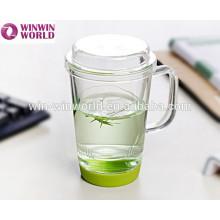 Handblown Clear Pyrex novedad personalizada taza de té de cristal burbuja