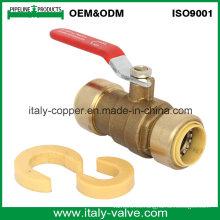 Válvula de bola de encaje a presión sin bricolaje de Customerized (IC-1003)