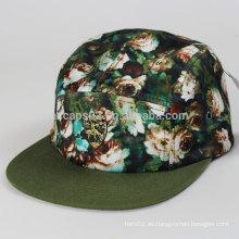 Gorra de sombrero de 5 paneles personalizados
