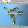 Flacher Kopf Phillips gelbe Zink vernickelt Spanplatten Schraube