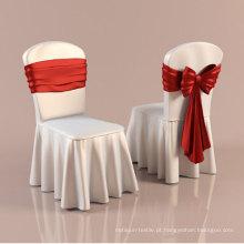 Tampa da cadeira do restaurante com babados (dpfr80134)