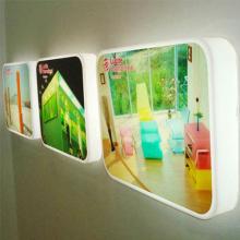 Caixa de luz LED elegante, pendurada no suporte de imagem LED