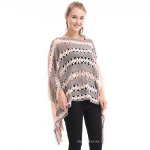 Nuevo estilo 2017 suéter de las señoras de invierno stock photography poncho de la manera de las mujeres mexicanas