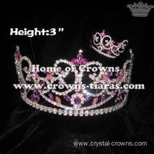 3inch Colorful Crystal wholesale Crowns