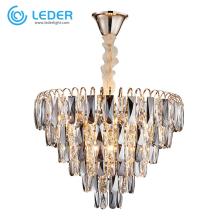 LEDER Living Room Crystal Chandelier Lights