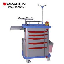 DW-ET001N Hospital que cuida la carretilla médica del ABS de la emergencia con la cerradura disponible