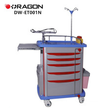 DW-ET001N Hospital nursing medical ABS emergency trolley With Disposable Lock
