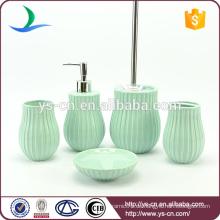 Populäre gedruckte Farbe elegante keramische Badezimmerzusätze heißer Verkauf