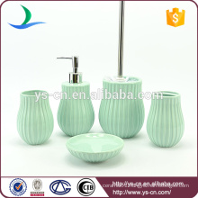Popular printed color elegant ceramic bathroom accessories hot sale