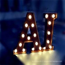 Signes décoratifs faits sur commande de lettre de chapiteau de LED