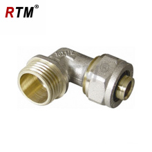 brass male elbow compression fittings for multilayer tube brass tube fittings