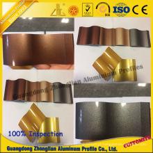 Perfil de alumínio Customerzied da tubulação com cores de cristal da electroforese