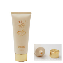 China 100g cosmetic containers facial cleanser tube with gold screw cap
