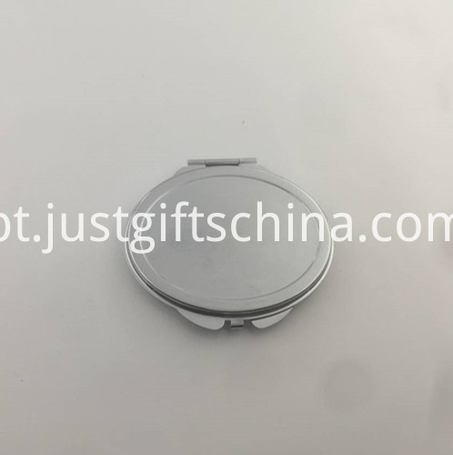 Promotional Silver Aluminium Compact Mirror
