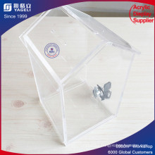 Yageli Clear House Donation Box with Lock