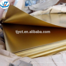 16 gauge 18 gauge high quality bright surface brass sheet brass plate