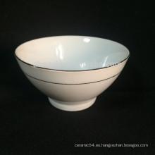 Tazones de porcelana blanca, cuenco de sopa, tazón de avena