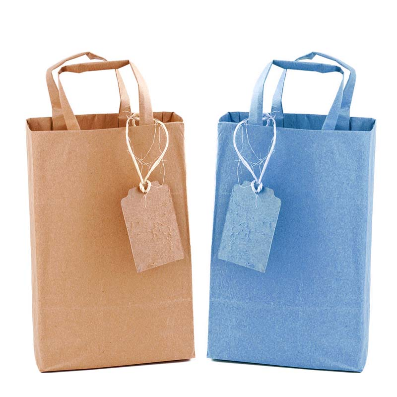 colored Kraft bags