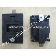 Flush handle lock of truck body fittings