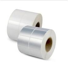 NX74 Custom adhesive waterproof stickers roll matte silver label heat transfer print label
