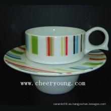 Taza y platillo de café (CY-P528A)