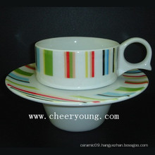 Coffee Cup and Saucer (CY-P528A)