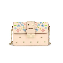 New Eyelet Embroidery Shoulder Bag PU Crossbody bolsa Wzx1058