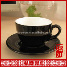 250cc ceramic wholesale terracotta coffee cup saucer