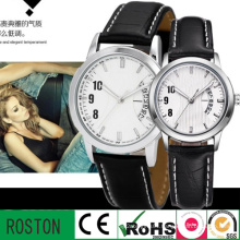 Japan Movt Quartz Watch Stainless Steel Back Couple Watch