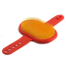 Customized for Pet Rubber Brushes Soft tpr cat hair comb supply to Christmas Island Supplier