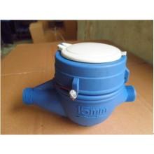 Dry Dial Multi Jet Vane Wheel Plastic Water Meter