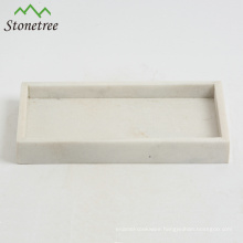 Hot Sale Rectangular Marble Tray for Storage Serving