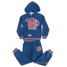 Juegos de trajes de deporte para niños con cremallera y capucha en ropa de niños, ropa de niños de invierno trajes de niño Swb-110