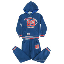 Boy Sport Suit Sets with Zipper&Hood in Kids Clothes, Winter Children Clothes Boy Suits Swb-110
