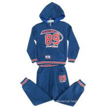 Terno do esporte do menino ajusta-se com Zipper & Hood na roupa dos miúdos, ternos Swb-110 do menino da roupa das crianças do inverno