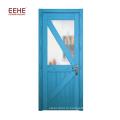 Новейшая конструкция деревянных дверей с одним потоком со стеклом